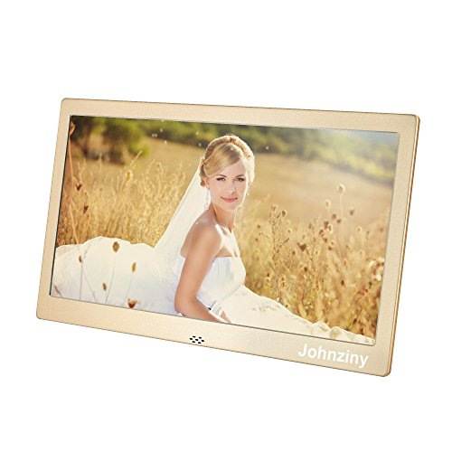 10 Inch Digital Photo Frame- Metal Electronic Picture Frame with 1024x600 High Resolution Display & Remote Controller Support SD/MMC /MS Card/USB Port by Johnziny