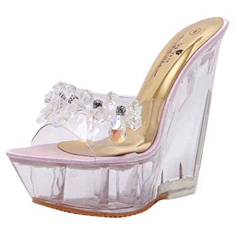 Femme Rosa strass3 JYshoes JYshoes Mules Mules YIHtwn0q