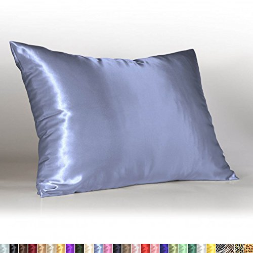 Price comparison product image Sweet Dreams - Blissford Luxury Satin Pillowcase with Zipper, Standard Size, Jewel Blue (Silky Satin Pillow Case for Hair) By Shop Bedding (1-Pack)