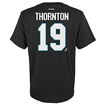 YOUTH San Jose Sharks Joe Thornton Player T Shirt Black