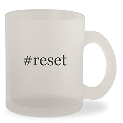 #reset - Hashtag Frosted 10oz Glass Coffee Cup Mug