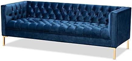 Baxton Studio Sofas, Royal Blue Gold