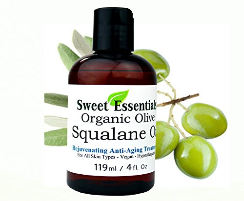 100% Pure Organic Squalane Oil - 4oz - Imported From Italy - Olive Derived - Vegan - Anti Aging - Skin Regenerating  - Non Greasy - Doesnt Feel Like The Traditional Oil