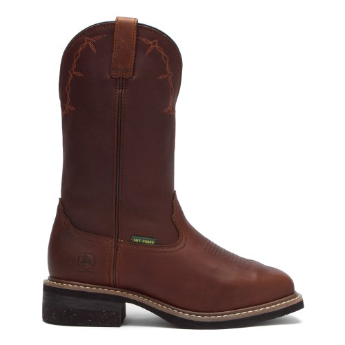 Men's Deere Kettle Toe John Boots Leather Square Copper Met Guard Broad cgnwFpdYq