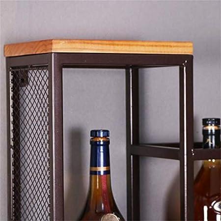 Wine Rack Wine Racks Wall Mount Wood Vintage | Estante de la Pared | sostenedor de Botella de Vino | Sostenedor del Vidrio de Vino | Vinoteca Metal Hierro