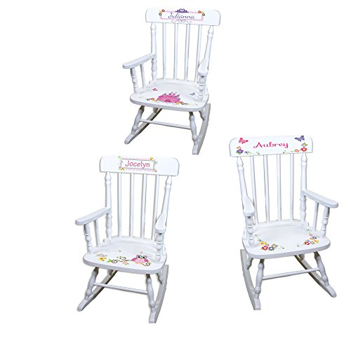 Personalized Girls Rocking Chair-white by MyBambino