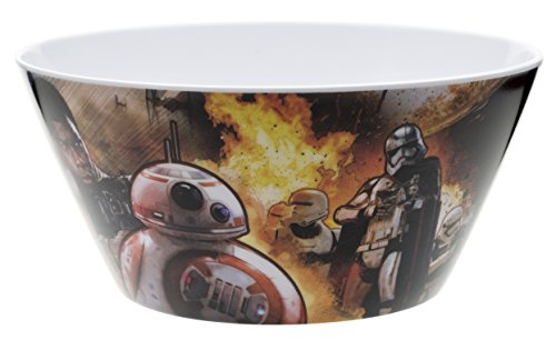 Zak! Designs Cereal Bowl with Star Wars The Force Awakens Graphics, BPA-free Melamine, 6