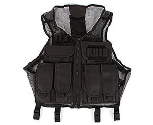 VISM CMTV2951B Lightweight Tactical Black Mesh Vest