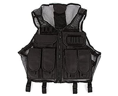 VISM CMTV2951B Lightweight Tactical Black Mesh Vest