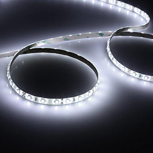 le waterproof 12v flexible led strip lights 6000k daylight white 300 units smd leds