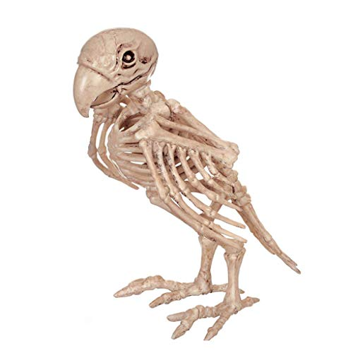 C & S Retro Parrot Skeleton Haunted House Animal Skeleton Horror Bar Movie Props Halloween Ornament -