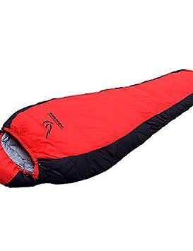 Saco de dormir momia bolsa Single -10? plumón de pato, 1800 g, 225 x 78 viajar impermeable/frío Phoenix alas, rojo: Amazon.es: Deportes y aire libre