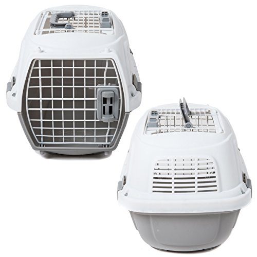 Favorite-195-Inch-Portable-Two-Door-Top-Load-Pet-Plastic-Carrier-Crate-for-Small-Animals