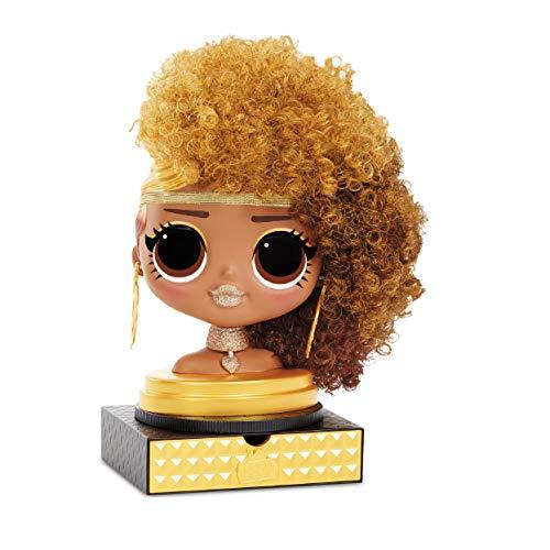 LOL Surprise OMG Cabeza de Peinado con Cabello Adhesivo para Crear Estilos Infinitos , 30 Sorpresas y Accesorios , Royal…