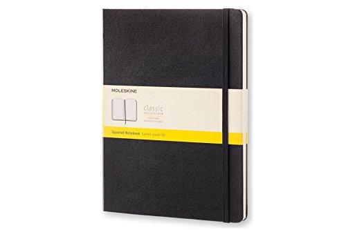 Moleskine Notizbuch, Groß, Kariert, Hard Cover, schwarz