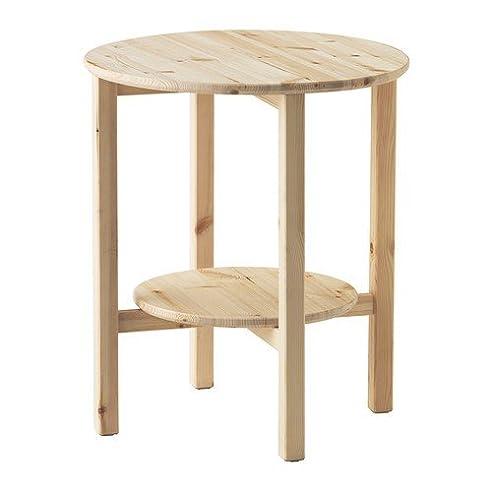 Beistelltisch küche ikea  IKEA NORNÄS Beistelltisch aus massiver Kiefer; (52cm): Amazon.de ...