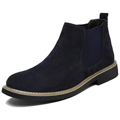 Chelsea Boots Uomo Pelle Oxblood Sicurezza Brogue Classico Autunno Martin Stivali Traspirante Desert Boots Snow Boots High Top Shoes Darkblue