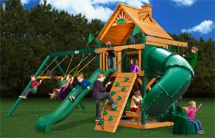 Mountaineer Swing Set with Wood Roof Canopy & Amazon.com: Mountaineer Swing Set with Wood Roof Canopy: Toys u0026 Games