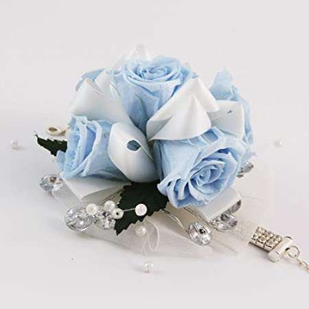 Elegant Magnificent Light Blue Rose Corsage   Preserved To Last Amazing Pictures