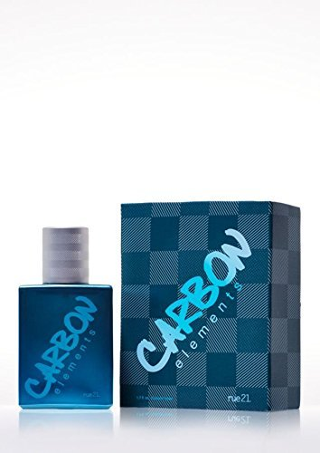 Rue 21 Guys Cologne Spray Carbon Elements, 1.7 FL Ounce (Rue 21 Carbon)