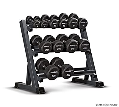 Marcy 3-Tier Dumbbell Rack Multilevel Weight Storage Organizer for Home Gym