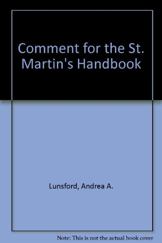 Comment for The St. Martin's Handbook