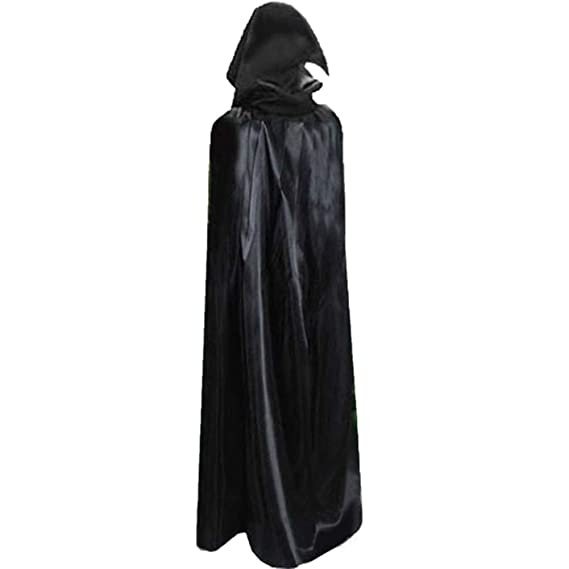 Halloween Hooded Cloak Robe Medieval Witchcraft Cape Robe Costume Unisex