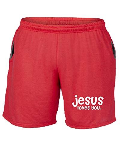 Rosso You Tosser Pantaloncini Tuta Fun2754 Jesus Loves S77vqa