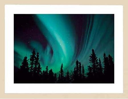 Polo Norte - aurora boreal - Impresión Art (Print Polo Norte Polar ...