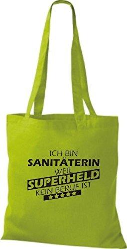 Shirtstown Bolso de tela Estoy Sanitäterin, weil Superheld sin Trabajo ist Lima