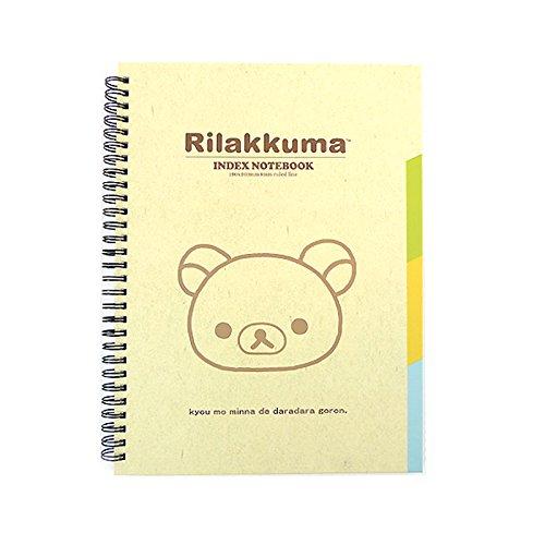 San-x Rilakkuma Spiral College Ruled Index Notebook Note Pad 1pc (Ivory)