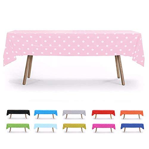 Hot Pink Polka Dot Tablecloth (6 PACK, 54