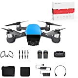 DJI Spark Mini Quadcopter Drone Fly More Combo with Holiday Gift,Sky Blue