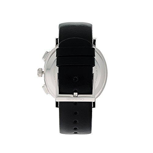 Calvin liten herr kronograf kvartsur med läderarmband K8Q371C1