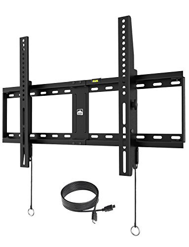 Fortress Mount TV Wall Mount for most 40-75″ TVs up to 165 lbs with 9-feet HDMI Cable (2018 Edition)