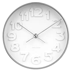 Karlsson Wall Clock, Steel, White, One Size