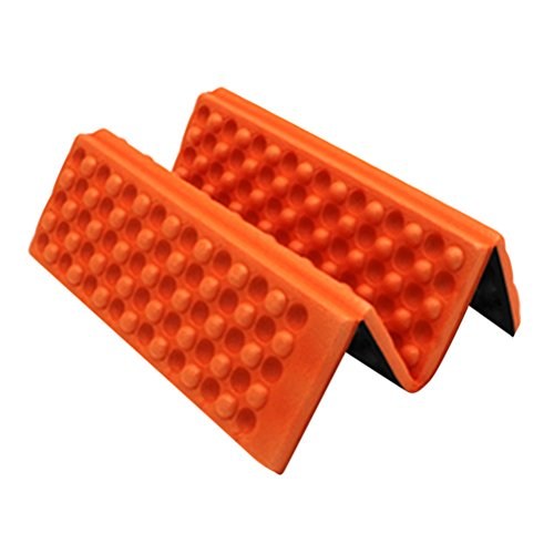 WINOMO Moisture-proof Folding XPE Foam Pads Mat for Camping Park Picnic Portable Cushion Seat (Orange)