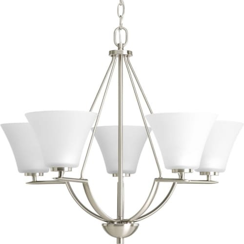 Cheap Progress Lighting P4623-09 Bravo Collection 5-Light Chandelier, Brushed Nickel