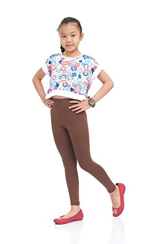 Nom Girls Legging Long Leg Variety of Colors Small Size Brown -