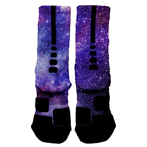 HoopSwagg Deep Space Galaxy Custom Socks Small