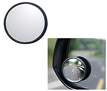 Sumex Pack Of 2 Blind Spot Mirror Convex Wide Angle Chrome Self Adhesive NEW