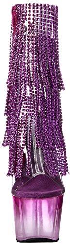 Pleaser Damen Adore-1017rsft Stiefel Clr-Purple/Purple