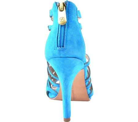 ADRIENNE VITTADINI Footwear Womens gaven Dress Sandal Aqua Kid Suede RIS7PZw5