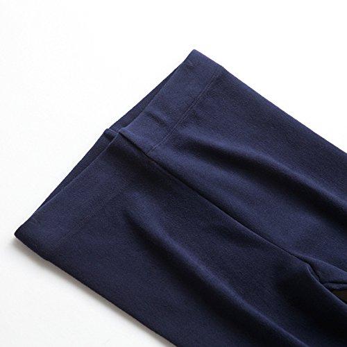 GBHNJ Leggings Slim Taille Haute Coton Transparent Plus Épais Peuvent Être Portés À LExtérieur WomenS LAutomne Et LHiver Bleu Thermique F(Poids Approprié 80-130 Catty)