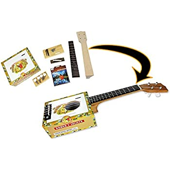 complete cigar box ukulele kit easily build your own cigar box uke all parts. Black Bedroom Furniture Sets. Home Design Ideas