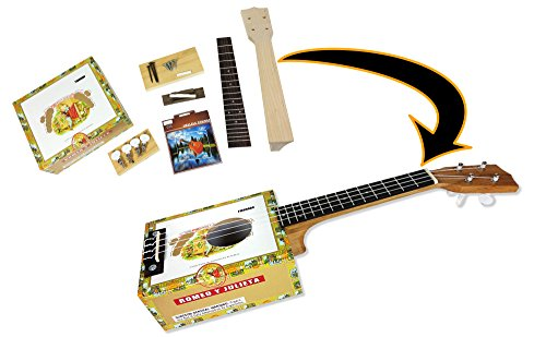 Complete Cigar Box Ukulele Kit - Easily build your own cigar box uke! All parts, hardware & instructions included. ()