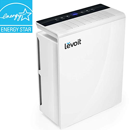 LEVOIT Air Purifier for Home Large Room with True HEPA Filter, Air Cleaner for Allergies and Pets, Smokers, Mold, Pollen, Dust, Quiet Odor Eliminators for Bedroom, Energy Star, Smart Sensor, - Panel Control White Range
