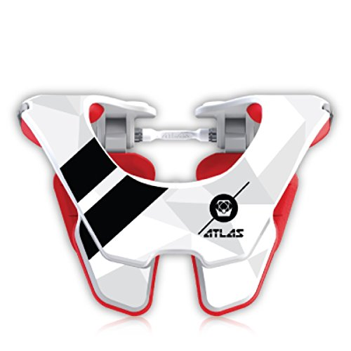 Atlas Tyke Brace Youth Kid Neck Brace Flight White Motocross MX Protection by Atlas