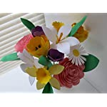 Mothers-Day-Bouquet-Spring-Paper-Flower-Mix-on-Stems-Daffodil-Easter-Lily-Crocus-Daisy-Rose-Tulip-Floral-Arrangement
