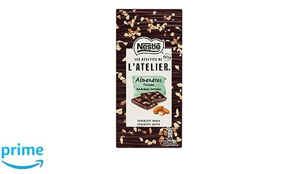 Nestlé Les Recettes de Atelier Tableta Chocolate Negro y Almendras - 115 gr: Amazon.es: Alimentación y bebidas